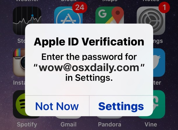 Apple ID password verification pop-up constantly, here is the fix