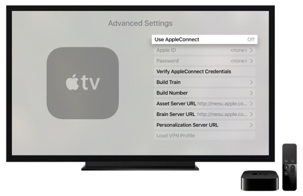 Apple TV advanced settings in tvOS