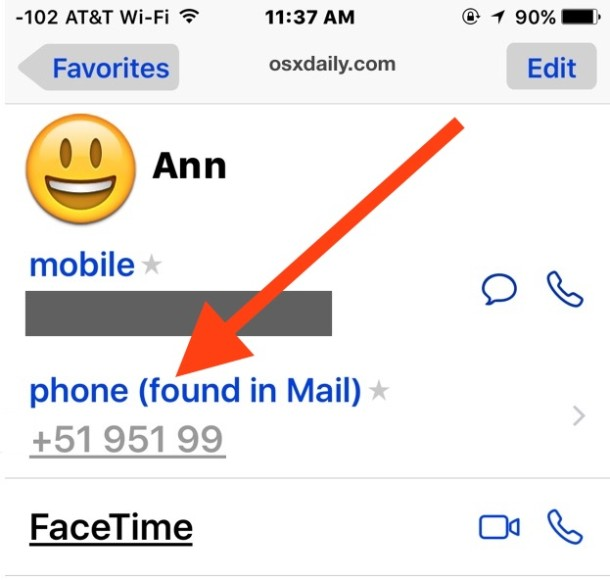 How to Disable Contacts found in Mail in iOS