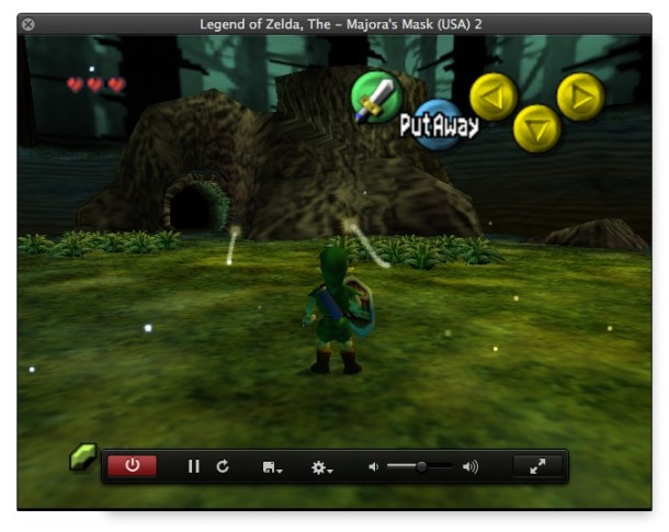 OpenEMU Nintendo 64 emulator in Mac OS X