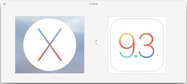 OS X 10.11.4 and iOS 9.3