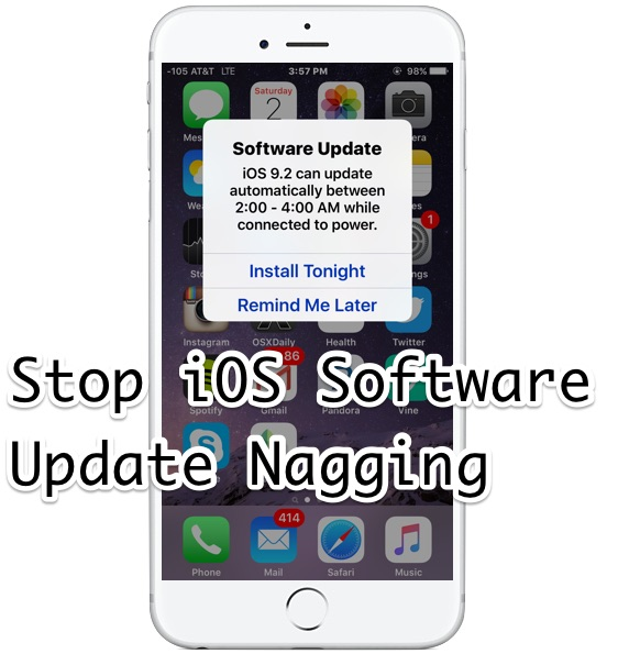 How to stop iOS Update notifications