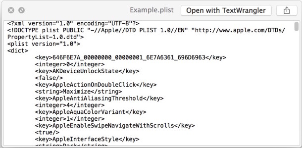 Convert a plist file to XML or binary in Mac OS X