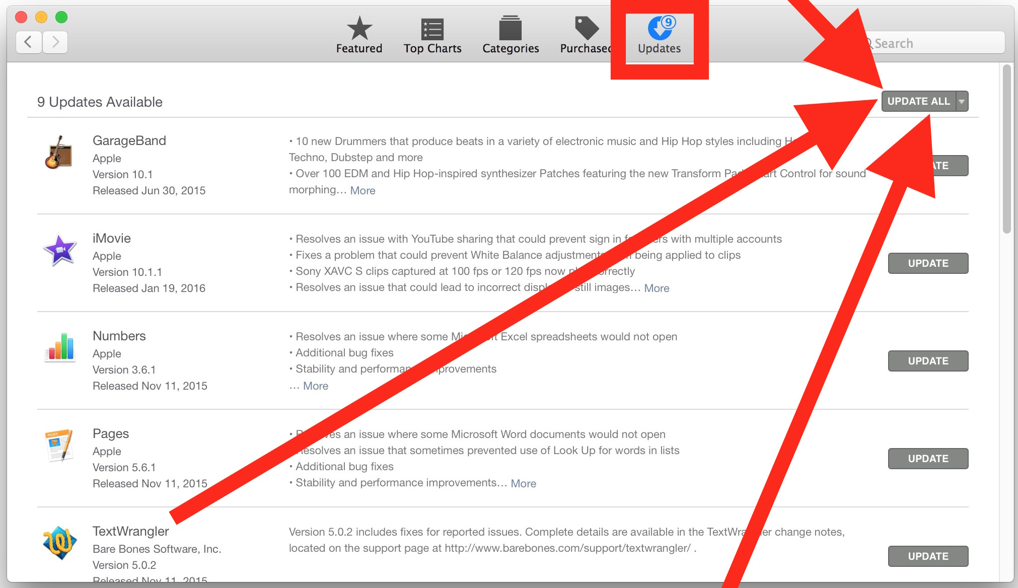 Update Mac App Store apps to fix them from crashing on launch