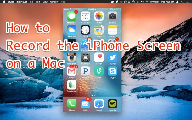 How to Record iPhone Screen from a Mac