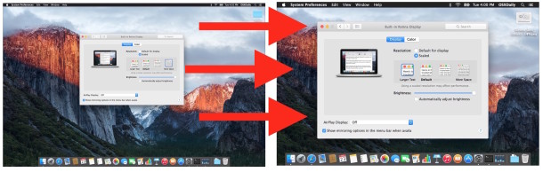 Increase the system text size and interface size in Mac OS X