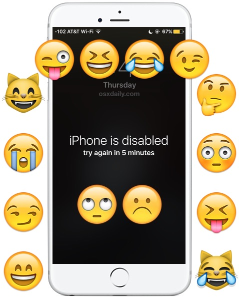 April Fools The Iphone Is Disabled Wallpaper Prank Osxdaily