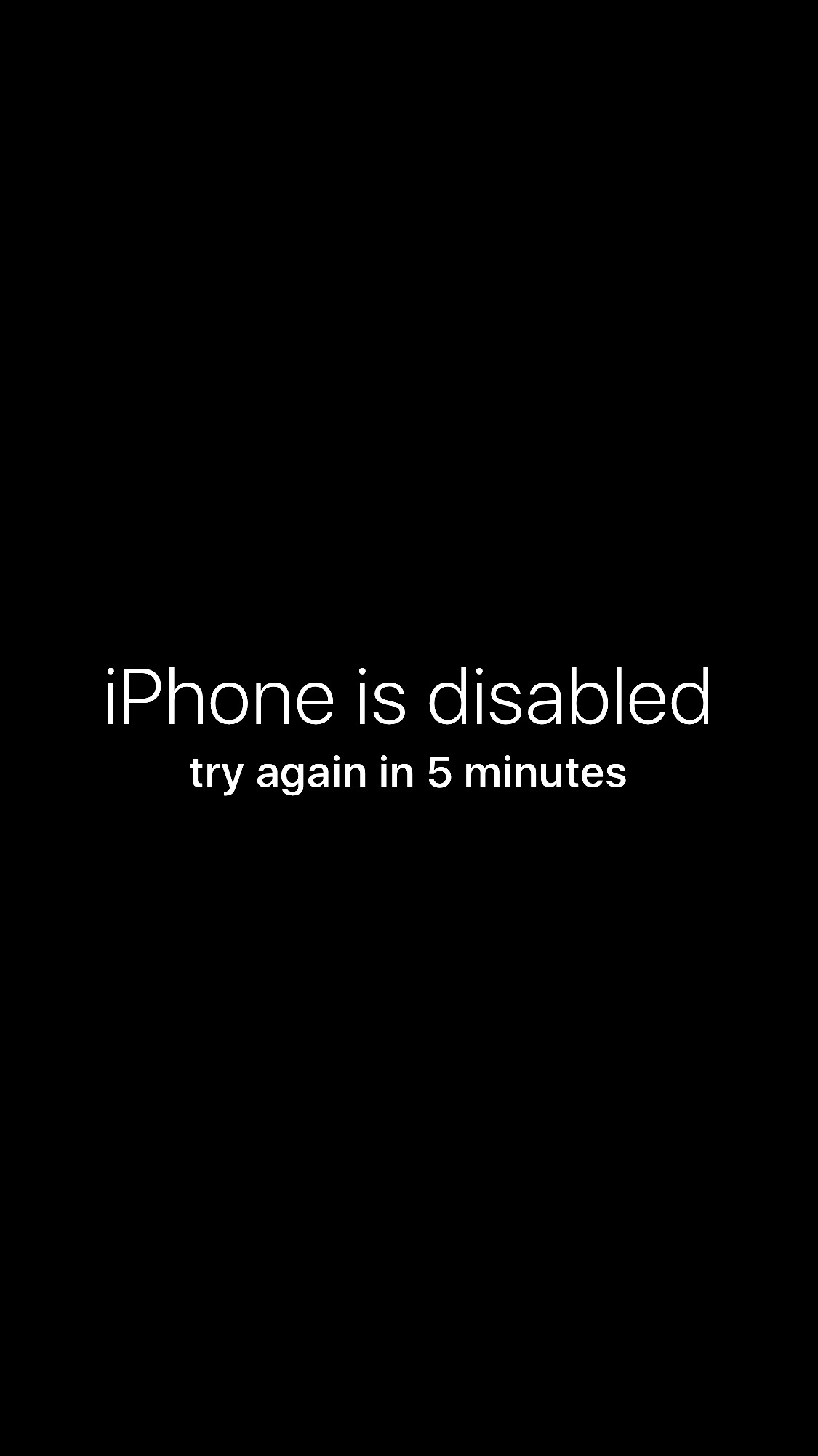 iPhone is disabled, try again wallpaper prank