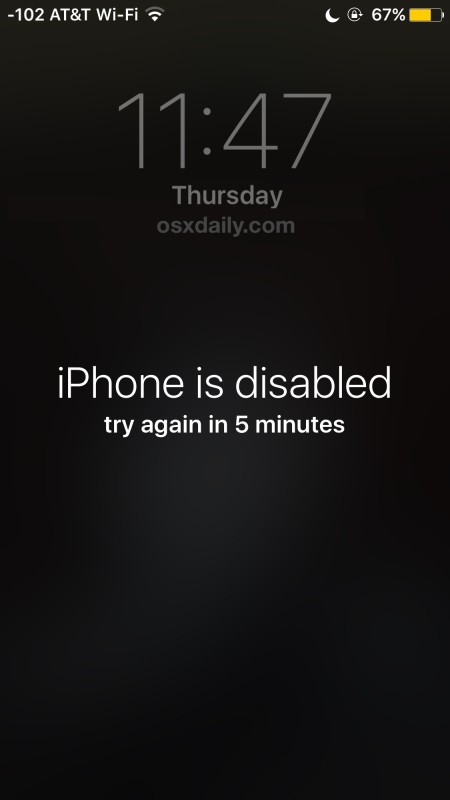 iPhone is disabled error message and how to fix it