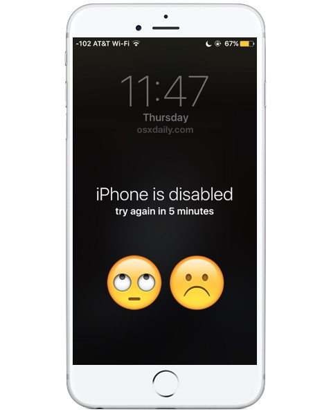 iPhone is disabled try again error message, what happened and how to fix it
