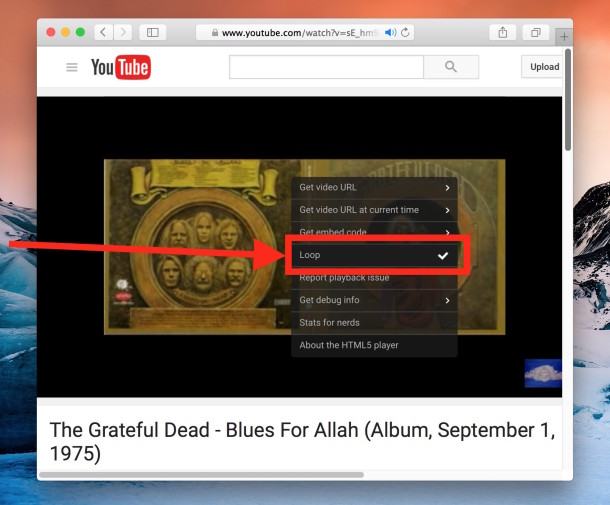 How To Loop Youtube Videos To Play Repeatedly Osxdaily