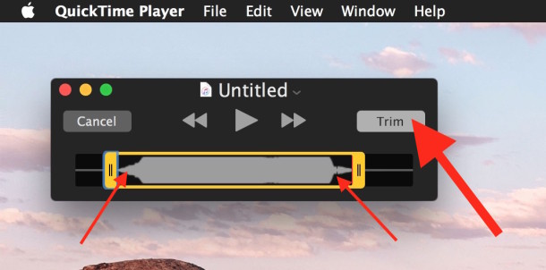 Trim the audio down to fit