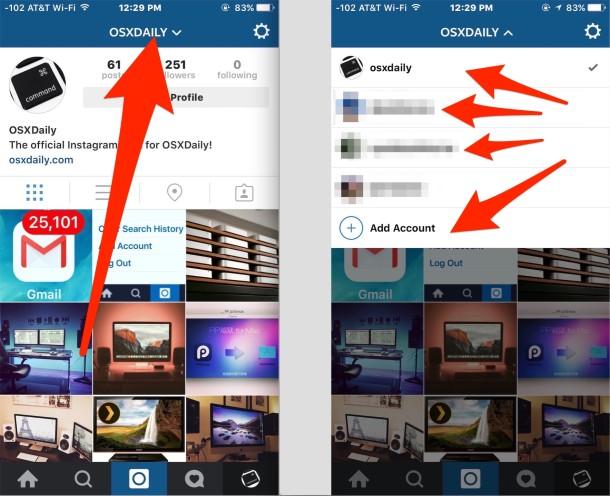 How to Switch between Multiple Instagram Accounts
