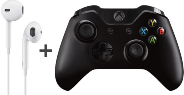 Use Apple Earbuds with Xbox One Controller
