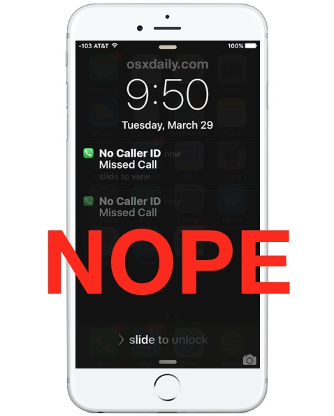 how to block unknown caller on iphone how to block unknown callers amp no caller id on iphone 1042