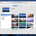 The default desktop picture collection in Mac OS X