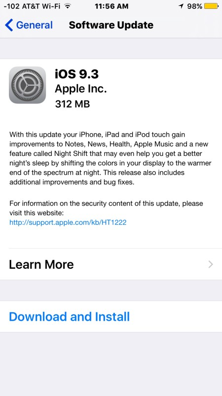 iOS 9.2 software update available to download and install now