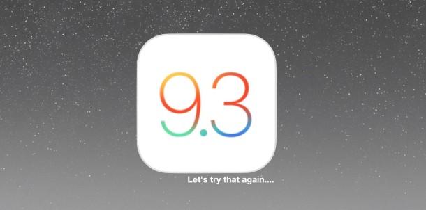 iOS 9.3 new build 12e237
