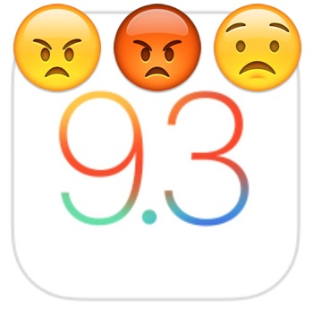Resolving iOS 9.3 problems