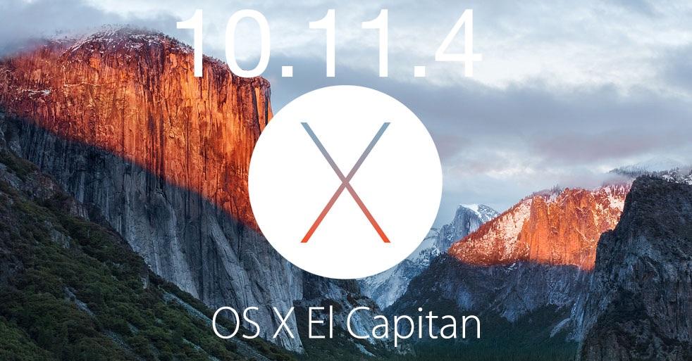OS X 10.11.4 update