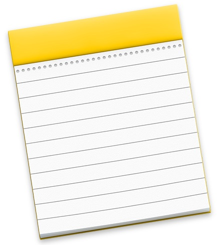 Notes icon on Mac
