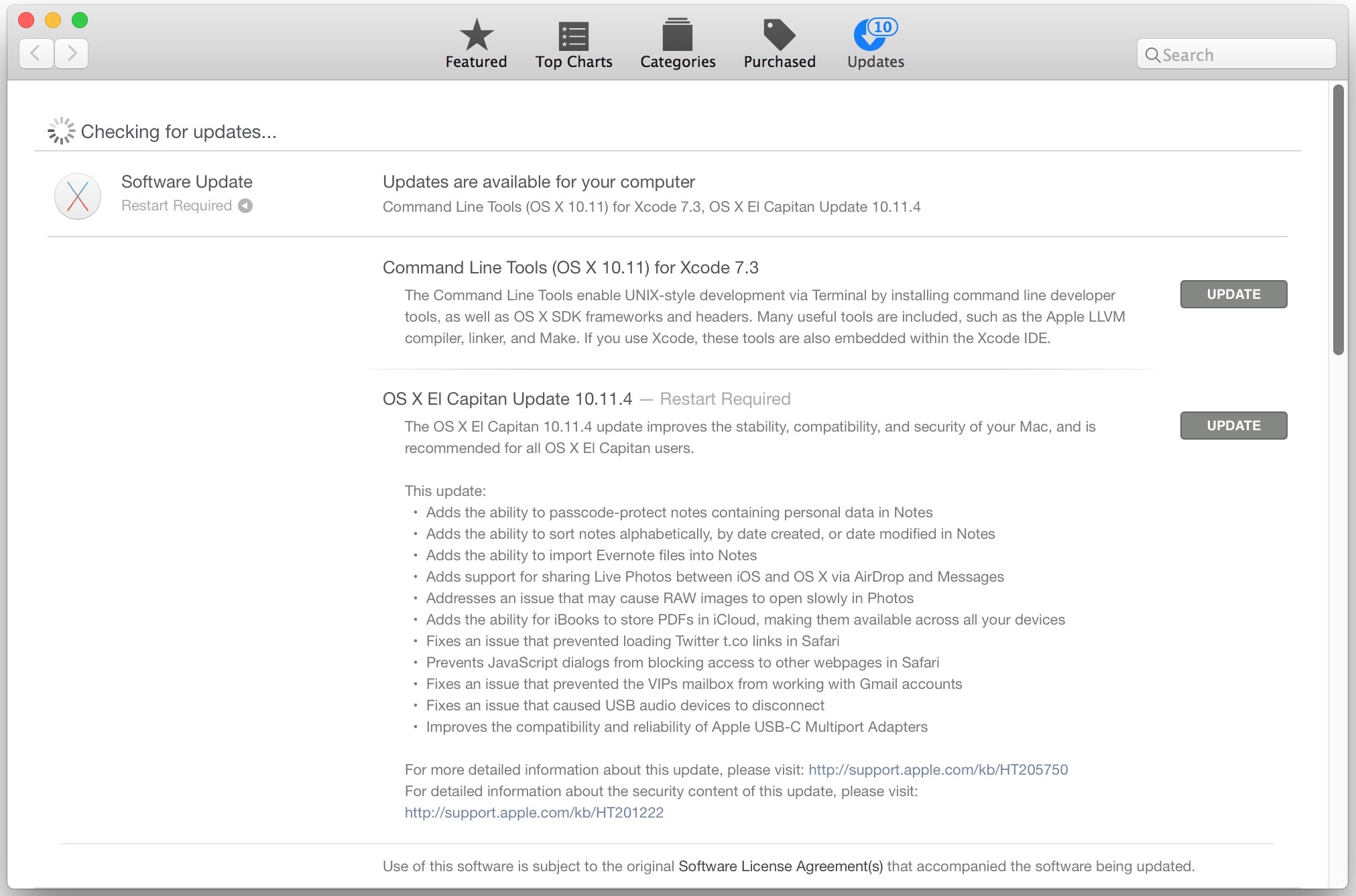 OS X 10.11.4 Update for Mac