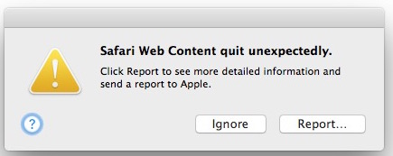 Safari crashing