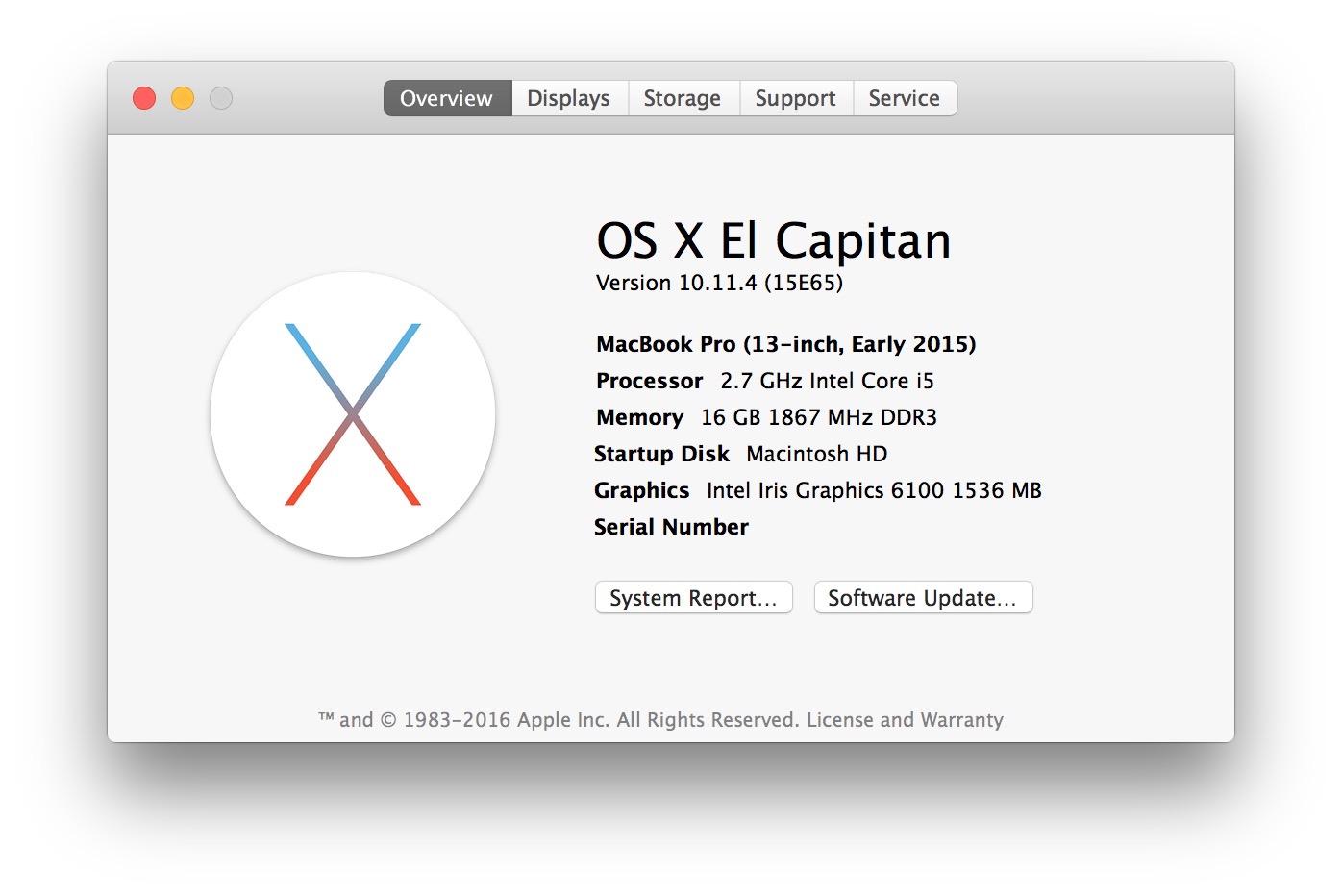Update mac to os x 10.11