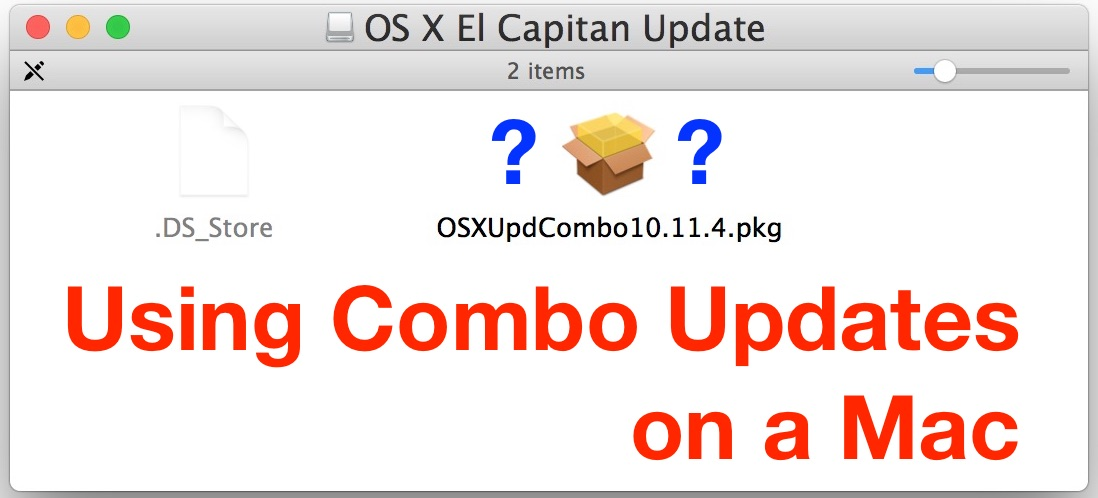 How to use combo updates on a Mac