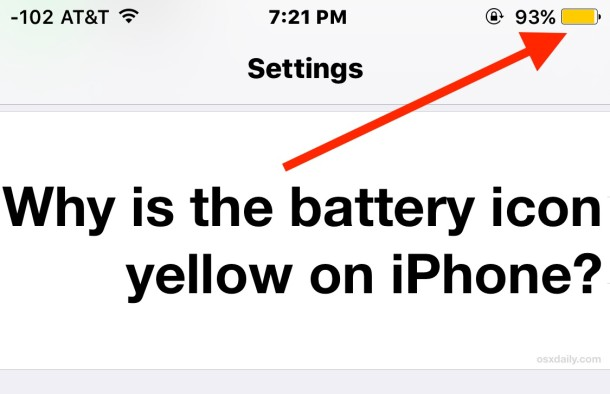 Why the iPhone battery icon is yellow, what it means, and how to fix it