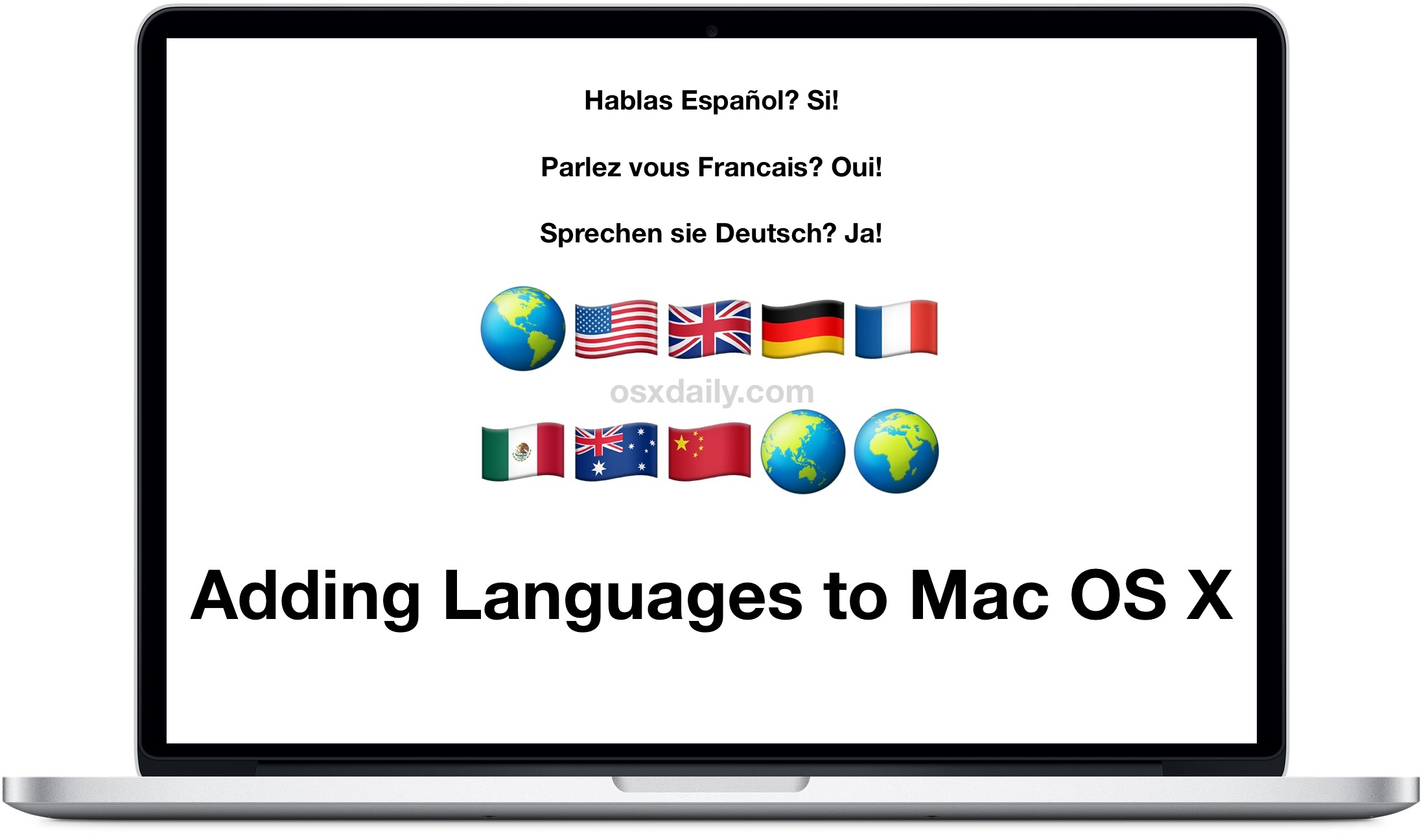 Add a new language to Mac OS X