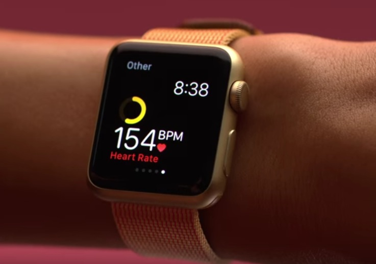 Apple Watch wrist heart rate monitor ad