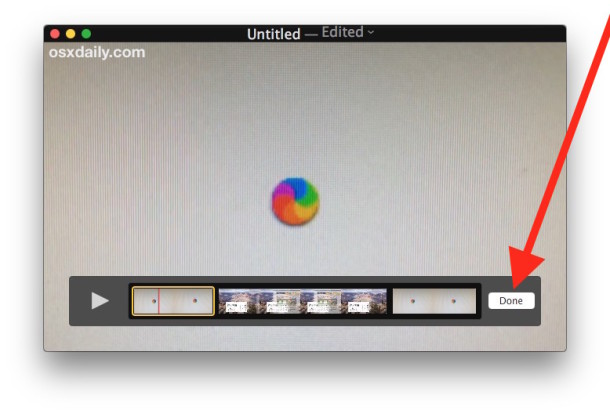 Join movie files together on a Mac with Quicktime