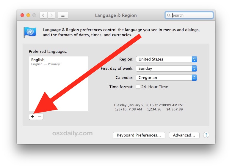 add new languages to the Mac