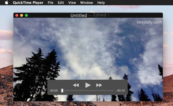 Loop video playback in QuickTime for Mac