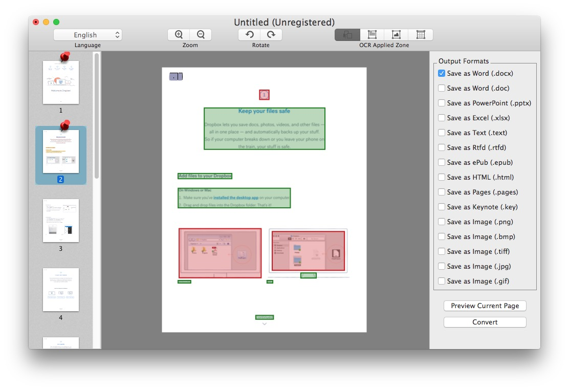 PDF converter tool for Mac works quite well