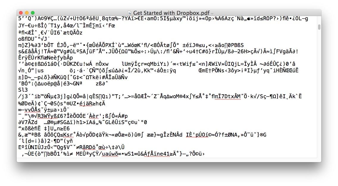 Opening PDF file as Word DOC loads gibberish
