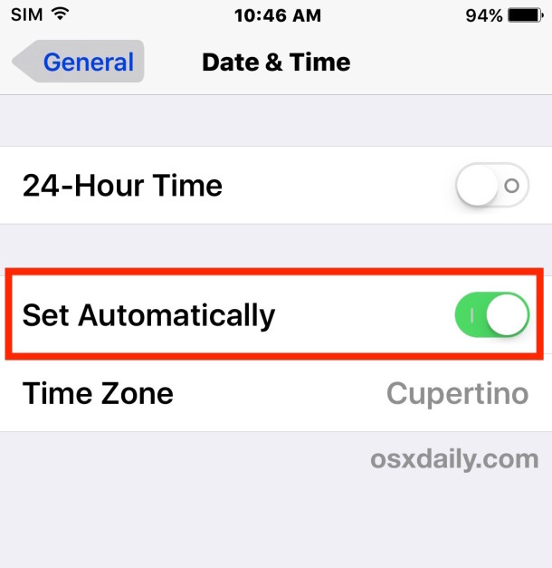 iphone time wrong iphone or showing wrong time fix it easily here is how 12389