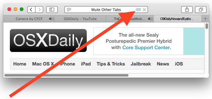 See a list of all tabs playing audio in Safari