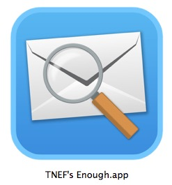TNEF Enough open Winmail dat files in Mac OS X