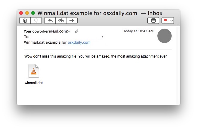 Opening Winmail.dat attachment files in Mac OS X