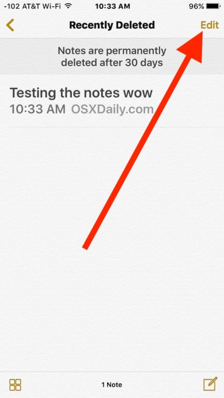 Edit so you can move the deleted note