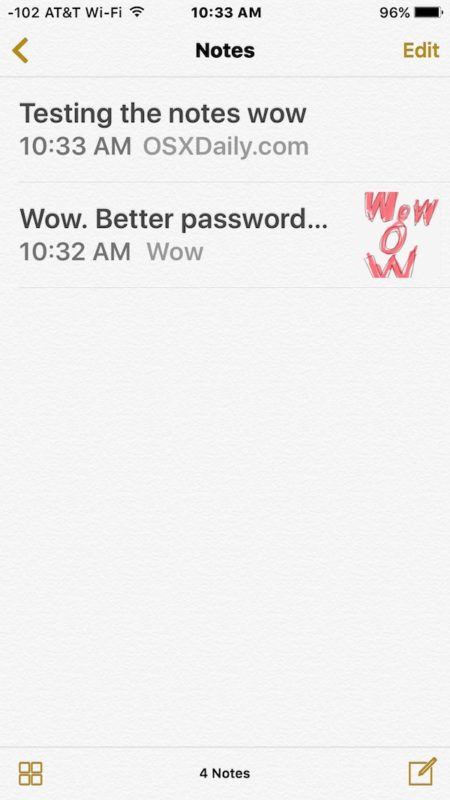 Deleted note successfully recovered on iPhone
