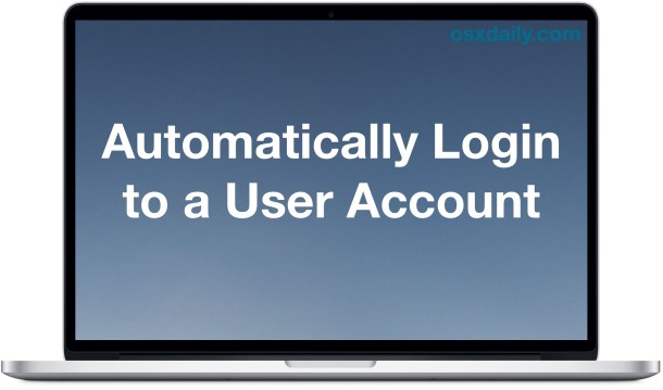 Automatic Login in Mac OS X