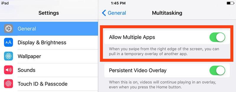 Disable iPad slide over multitasking sidebar