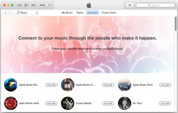 Apple Music and Connect clutter in iTunes