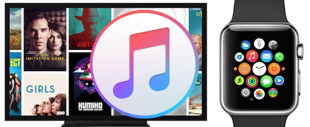 iTunes, Apple Watch, Apple TV