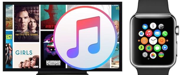 iTunes, Apple Watch, Apple TV