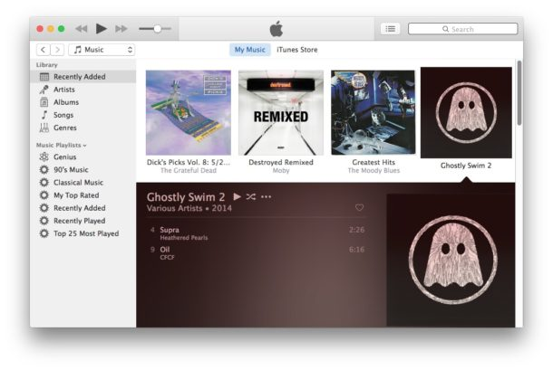 iTunes user interface simplified
