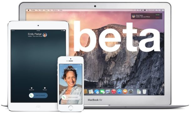 Mac OS X and iOS betas